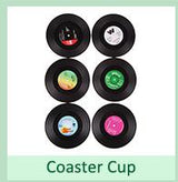 6 Pcs/ set  Vinyl  Record Cup Coasters