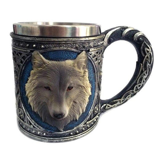 3D Stainless Steel Wolf Drinking Mug