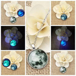 Glass Luminous Star Series Crystal Necklace