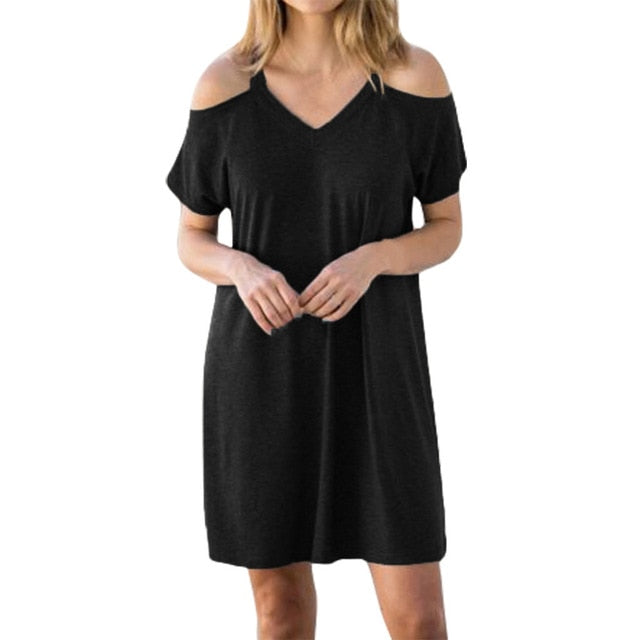 Cold Shoulder Dress | Plus Size Available