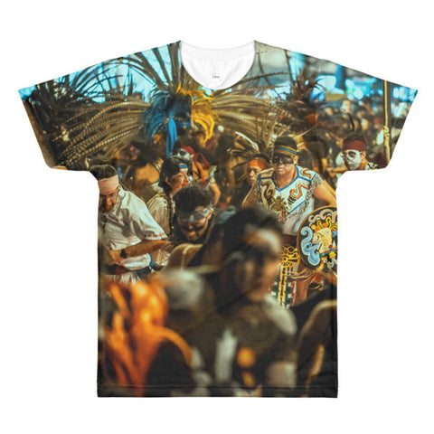 Aztecs Dance - Sublimation men's crewneck t-shirt