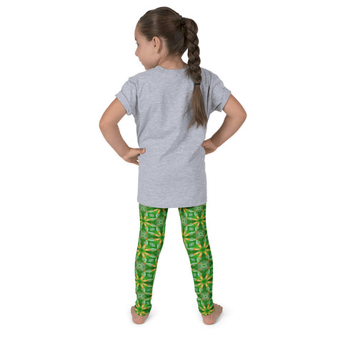 "Kaleidoscope ""Green Flower"" - Kid's leggings"