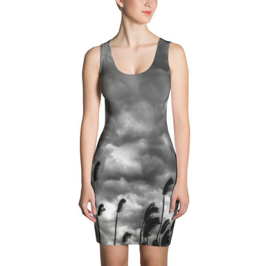 Tropical Storm in Black and white -  Cut & Sew Dress