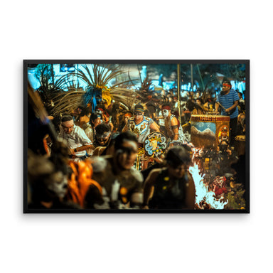 Aztecs Dance - Framed photo paper poster