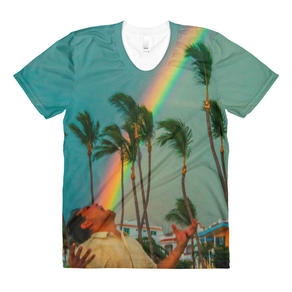 """Eat The Rainbow"" - Sublimation women's crew neck t-shirt"