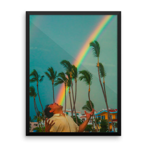 SHOUT the Rainbow! - Framed photo paper poster