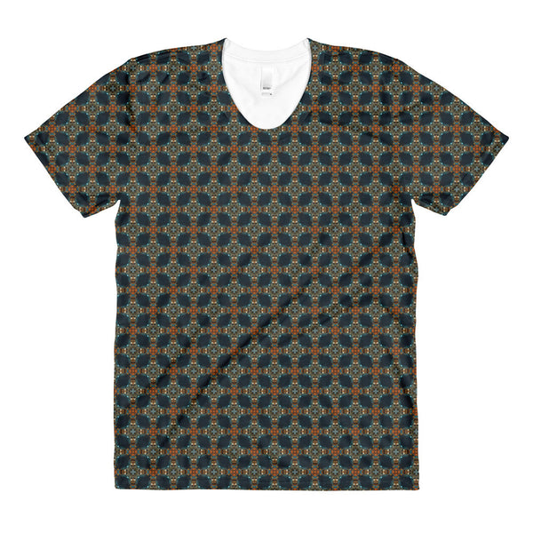 "Kaleidoscope ""Aztecface"" - Sublimation women's crew neck t-shirt"