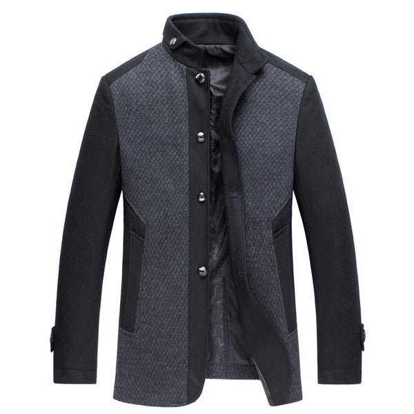 Business Casual Men's Woolen Coat