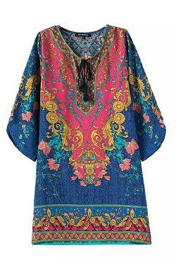 Summer style Indian baroque dress vintage