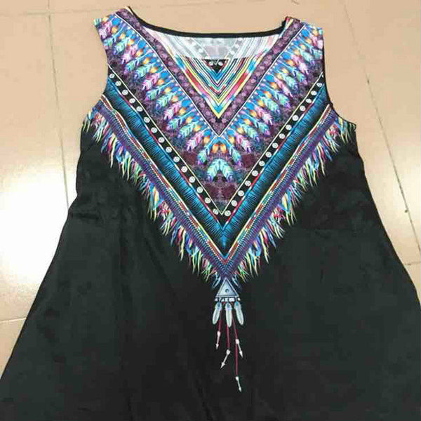 Amazing Boho Bohemian Sleeveless Dress