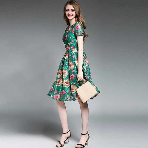 Beautiful summer floral casual dress