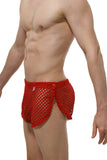 Short Snap PetitQ Fishnet Red