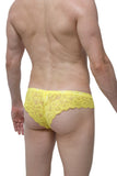 Brazilian Brief Lace Yellow