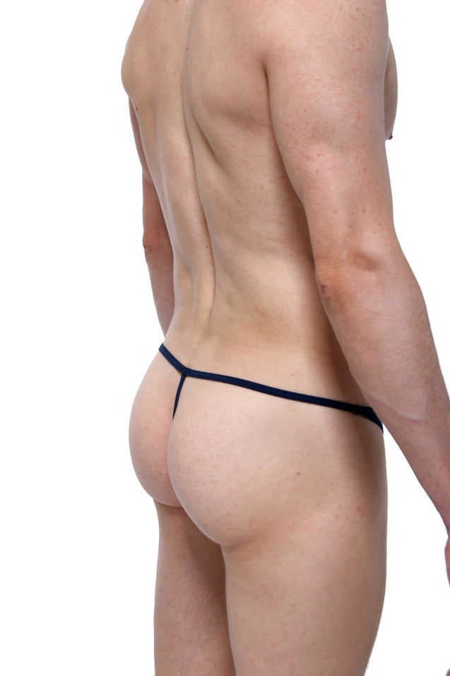 Thong Lace Oissel PetitQ Navy