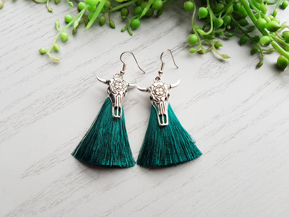 COWGIRL TASSELS EMERALD GREEN