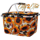 SUNFLOWER FARM INSULATED BASKET *PREORDER*