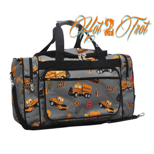 "CONSTRUCTION TRUCKS 20"" DUFFEL BAG"