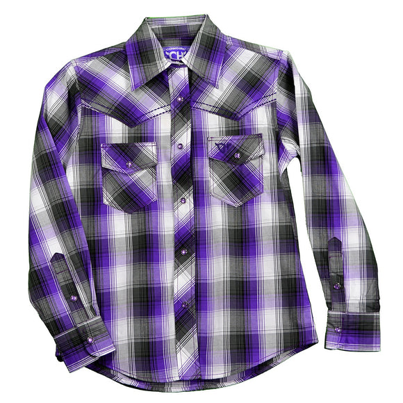 PURPLE GIRLS WESTERN SHIRT