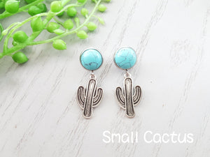 SMALL CACTUS COWGIRL EARRINGS