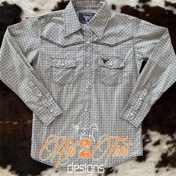 STAR PRINT BOYS WESTERN SHIRT