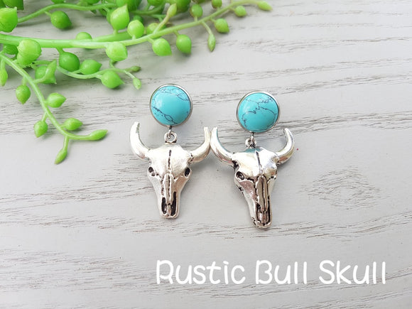 BULLSKULL COWGIRL EARRINGS