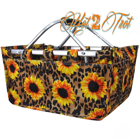 LEOPARD SUNFLOWER SHOPPING BASKET *PREORDER*