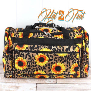 "LEOPARD SUNFLOWER 23"" DUFFLE BAG *PREORDER*"
