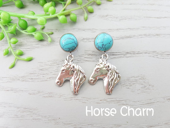 HORSE HEAD COWGIRL EARRINGS
