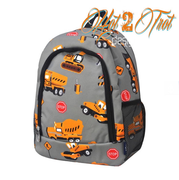 CONSTRUCTION TRUCKS TODDLER BACKPACK