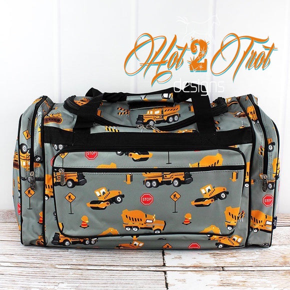 "CONSTRUCTION TRUCKS 23"" DUFFEL BAG"