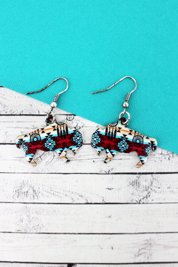 DESERT DREAMS BISON EARRINGS