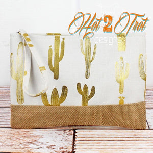 GOLD CACTUS WRISTLET POUCH *PREORDER*