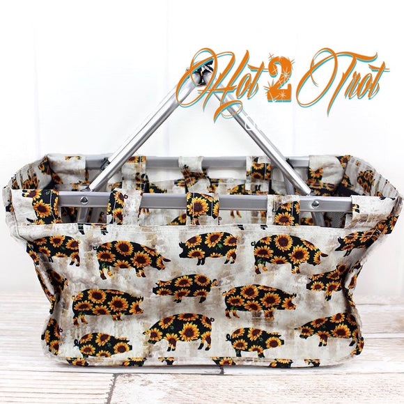 SUNFLOWER PIGS SHOPPING BASKET *PREORDER*