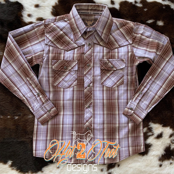 BROWN BOYS WESTERN SHIRT