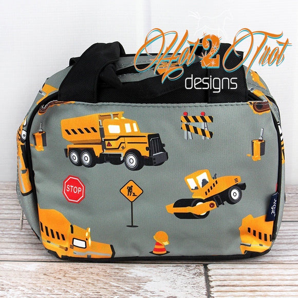 CONSTRUCTION TRUCKS INSULATED LUNCH BAG