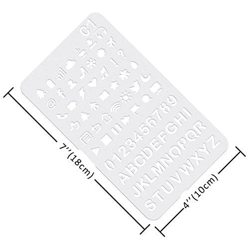 Plastic Stencils Over 1500 Different Patterns - 36 Piece
