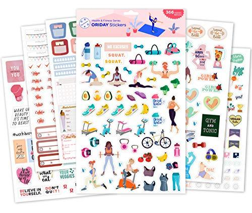 Health & Wellness Workout Stickers - 6 Sheets