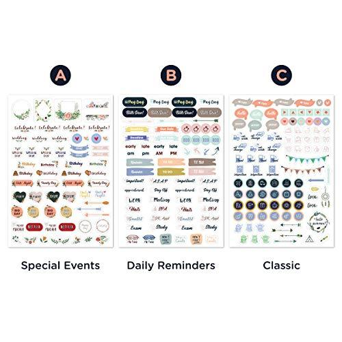 Monthly Calendar Planner Stickers - 6 Sheets