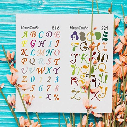 Letter and Number Stencils - 24 Piece