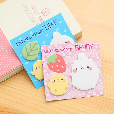 Kawaii Molang rabbit notes