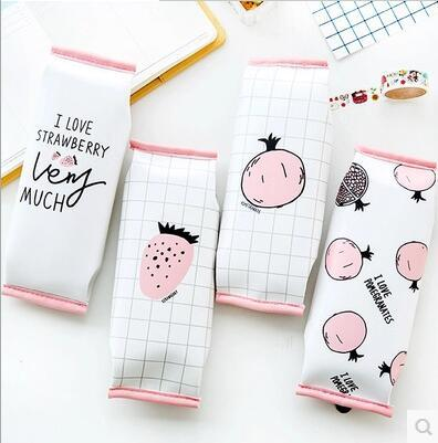 Pink fruits pencil case