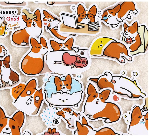 Corgi Dog Stickers - 39 Piece Set