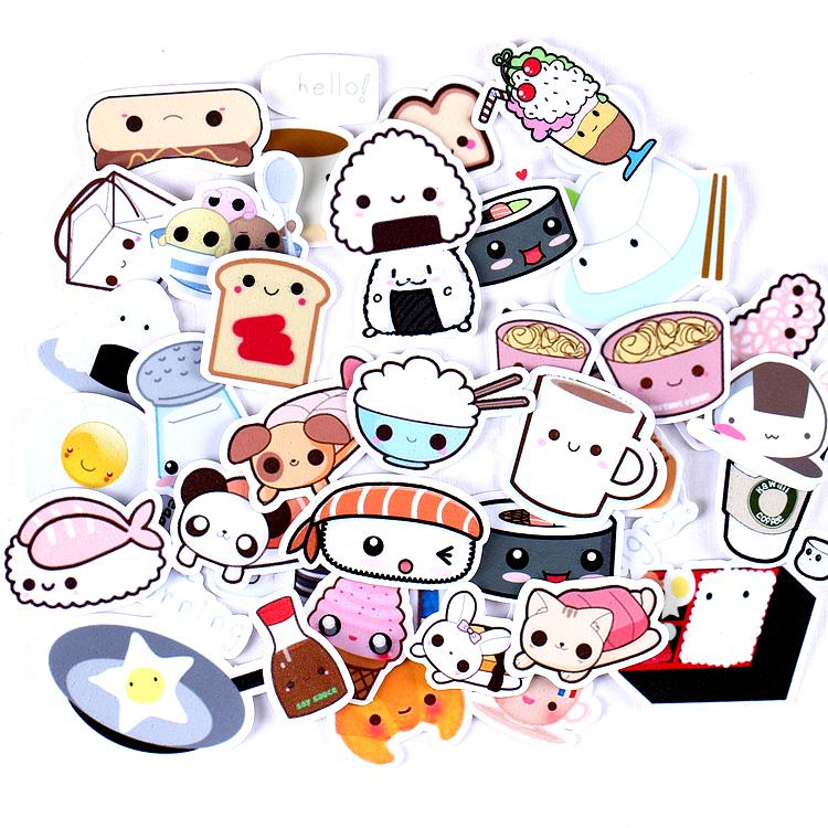 Kawaii Buffet Scrapbook Stickers