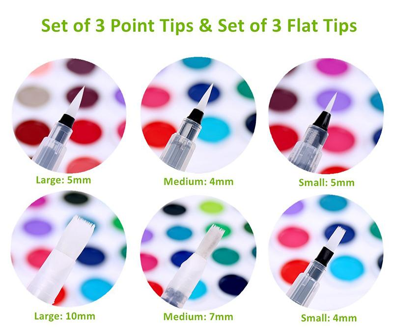Watercolor Soft Pen Brush Set