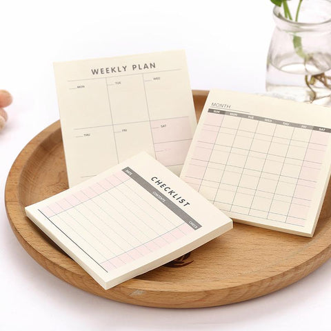 Weekly & Monthly Planner Notepad