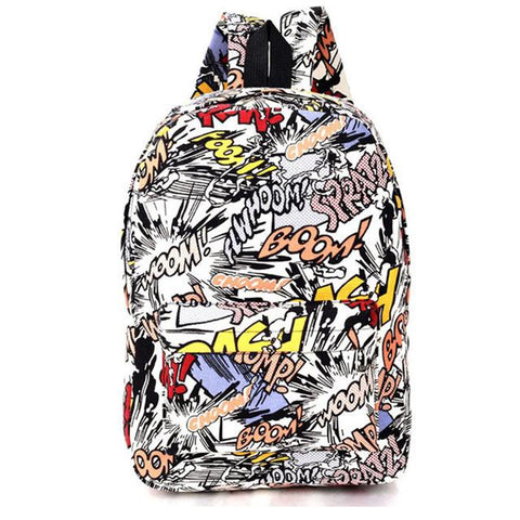 Graffiti Canvas Backpack