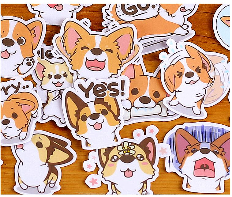 Cute Smiley Dog Stickers