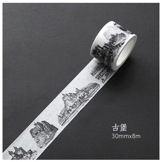 Black & White Decoration Washi Tape