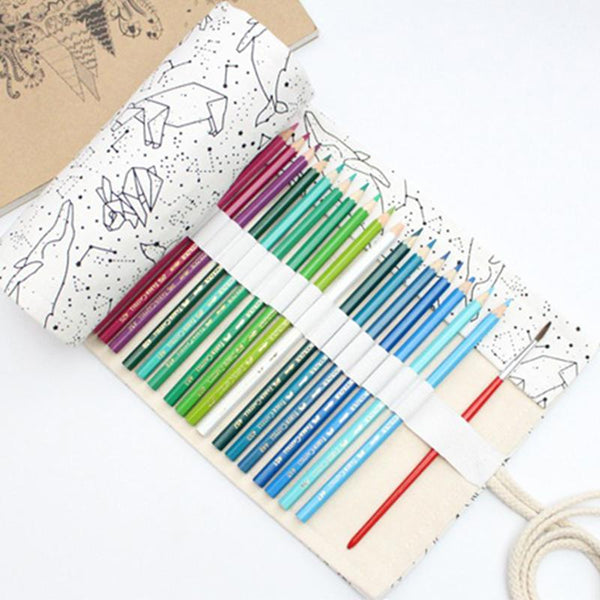 Canvas Roll Pencil Case