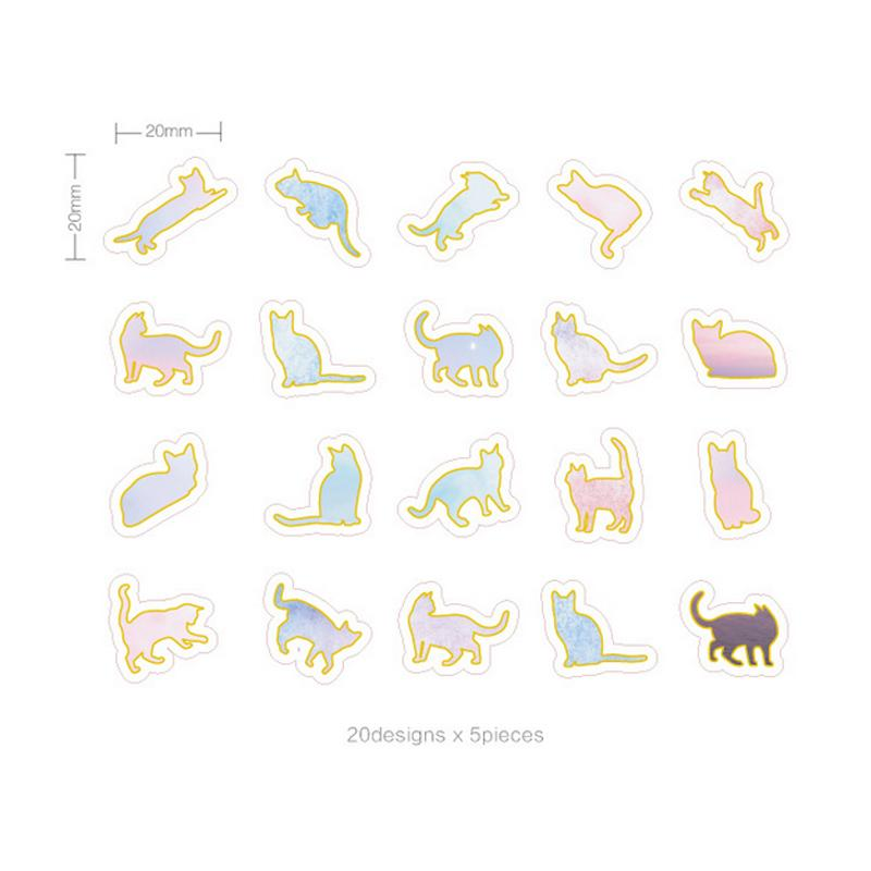 Cat Stickers Pastel Collection